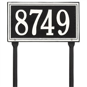 Personalized Double Line Lawn Address Plaque - 1 Line