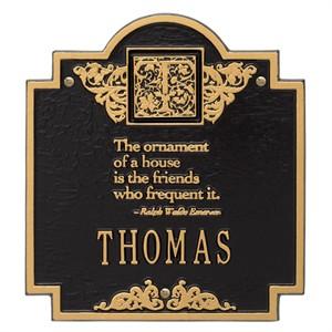 Personalized Emerson Monogram Plaque