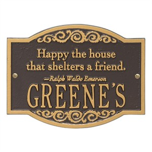 Personalized Emerson Quote Plaque
