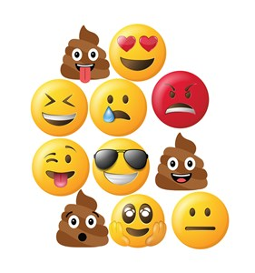 Emoji Faces Cardboard Cutout