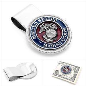 Enamel Marine Corp Money Clip