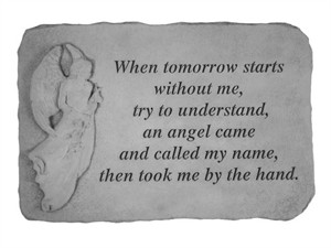 Engraved Angel StoneWhen tomorrow starts…