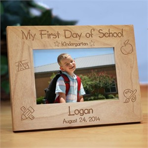 First Day At School Photo Frame Personalized School Picture Frame