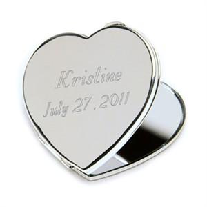 Engraved Heart Mirror