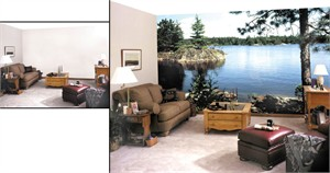 Do It Yourself Nature Wall Mural - Lake in the Woods