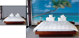 Do It Yourself Tropical Wall Mural - Ocean Breeze