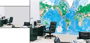 The World's Largest Write-On World Map Mural