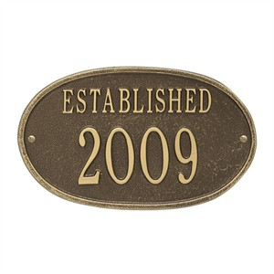 Personalized Established Date Plaque
