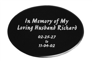 Etched Marble…Large Oval