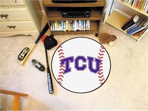 Texas Christian University Baseball Rug
