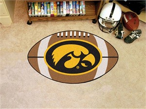 University of Iowa Football Rug - Hawkeyes Logo