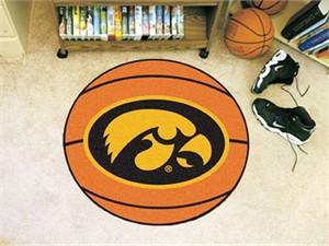 University of Iowa Basketball Rug - Hawkeyes Logo