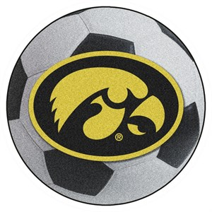 University of Iowa Soccer Ball Rug - Hawkeyes Logo