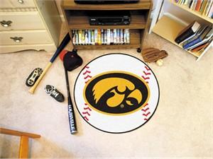 University of Iowa Baseball Rug - Hawkeyes Logo