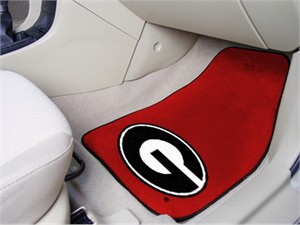 University of Georgia Car Mat Set-Red