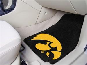 University of Iowa Car Mat Set - Hawkeyes Logo