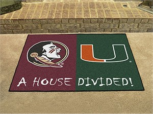Florida State / Miami House Divided All-Star Mat