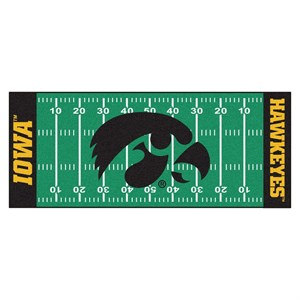 University of Iowa Football Field Runner Rug - Hawkeyes Logo