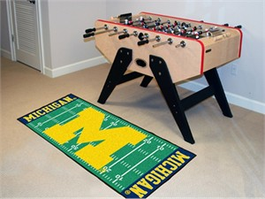 University of Michigan Football Field Runner Rug