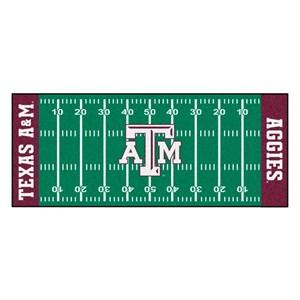 Texas A&M University Football Field Runner Rug