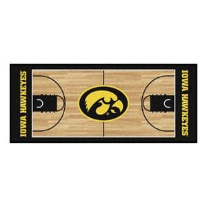 University of Iowa Basketball Court Runner Rug - Hawkeyes Logo