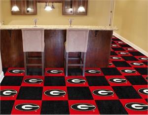 University of Georgia Carpet Tiles - G Logo on Red