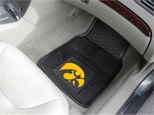 University of Iowa Heavy Duty Car Mat Set - Hawkeyes Logo