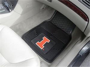 University of Illinois Heavy Duty Car Mat Set