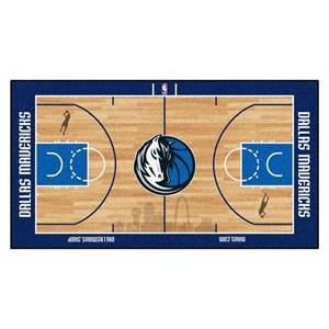 Dallas Mavericks Basketball Large Court Runner Rug