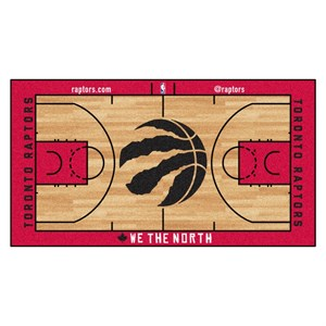 Toronto Raptors Basketball Large Court Runner Rug