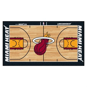Miami Heat Basketball Court Runner Rug