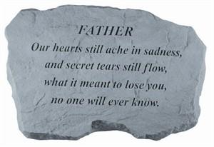 FATHER Our hearts still ache…Memorial Stone