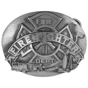 Firefighter Buckle Antiqued Belt Buckle