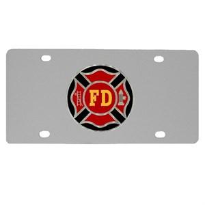 Firefighter Logo License Plate