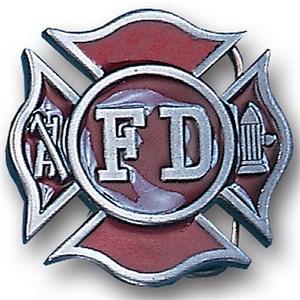 Fireman's Cross Enameled Belt Buckle