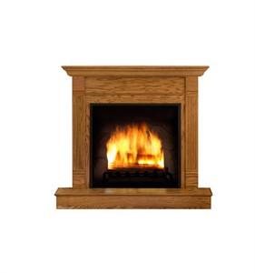 Fireplace Cardboard Cutout