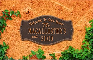 Personalized Fluted Arch Plaque
