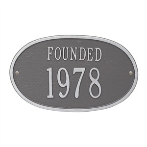 Personalized Founded Plaque