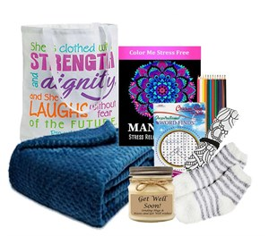 Get Well Gift Of Comfort Tote with Blanket