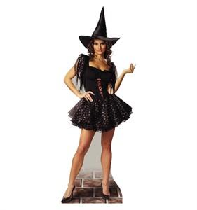 Glitter Witch Cardboard Cutout