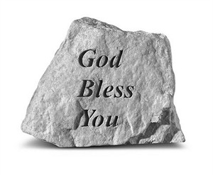 God Bless You Engraved Stone