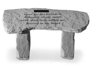 Gone yet not Forgotten Small Personalized Bench