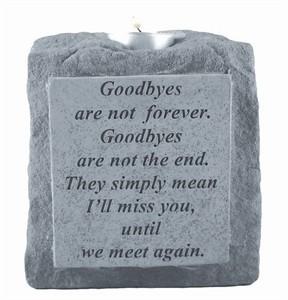 Goodbyes are not single short Candleholder