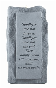 Goodbyes are not single tall Candleholder