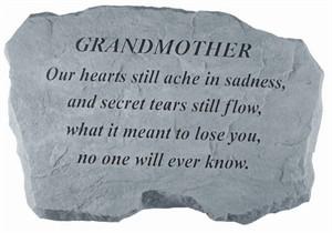 GRANDMOTHER Our hearts still ache…Memorial Stone