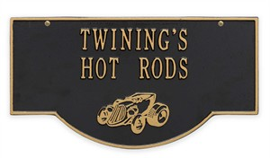 Personalized Hanging Hot Rod Plaque - 2 Side