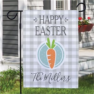 Personalized Happy Easter Carrot Garden Flag