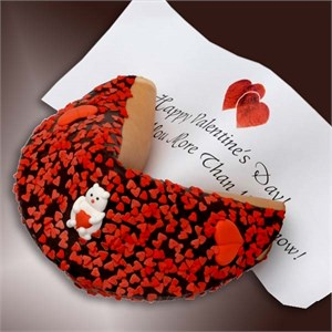 Happy Valentines Giant fortune Cookie