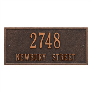 Personalized Hartford Address Plaque - 2 Line