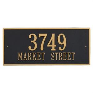 Personalized Hartford Large Address Plaque - 2 Line
